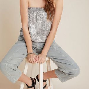 NWT Anthropologie Maiah Shimmer Tube Top